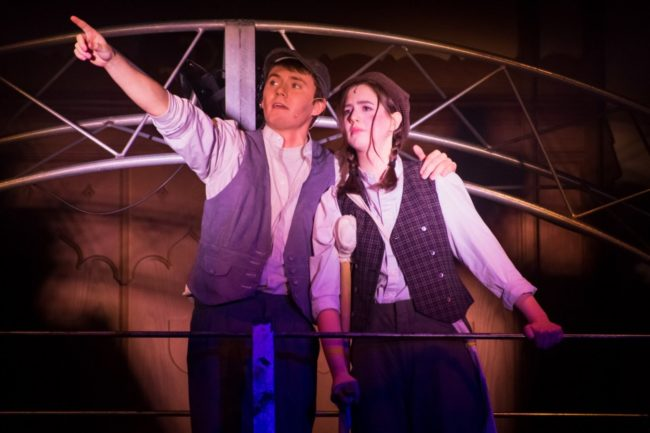 Andy Collins (left) as Jack Kelly and Sarah Mackin (right) as Crutchie Stasia Steuart Photography