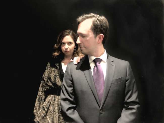 Raven Bonniwell (left) as Lady Macbeth and Danny Cackley (right) as Macbeth