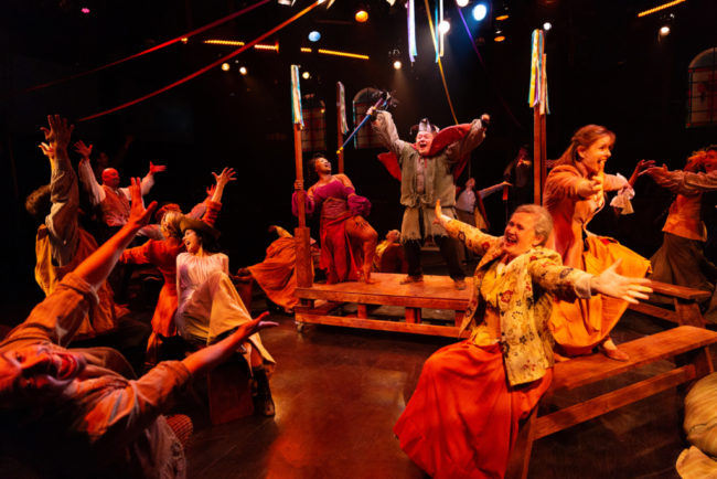 The company of The Hunchback of Notre Dame at Toby's Dinner Theatre of Columbia (Jeri Tidwell Photography)