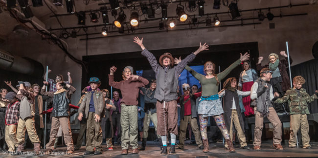"""Consider Yourself"" from Oliver! at Kensington Arts Theatre. Photo: Mark McLaughlin Photography"