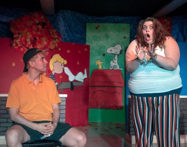 Chris Galindo (left) as CB and Katy Chmura (right) as Van's Sister in Dog Sees God. Photo: Rachel Zirkin Duda