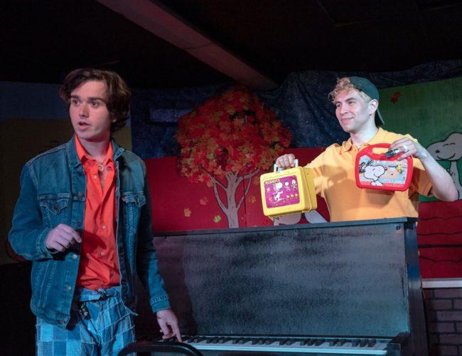 Jake Schwartz (left) as Beethoven and Chris Galindo (right) as CB in Dog Sees God. Photo: Rachel Zirkin Duda