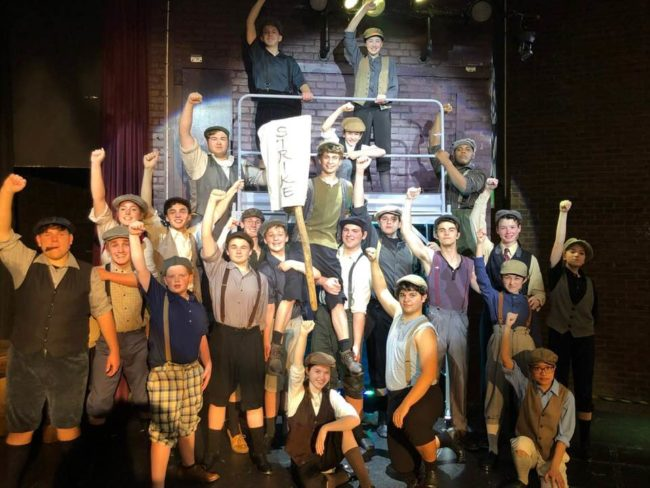 Newsies at Children's Playhouse of Maryland. Photo: Tyrell Stanley