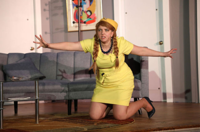 Kate Crosby as Gretchen in Boeing Boeing. Photo: Shealyn Jae Photography