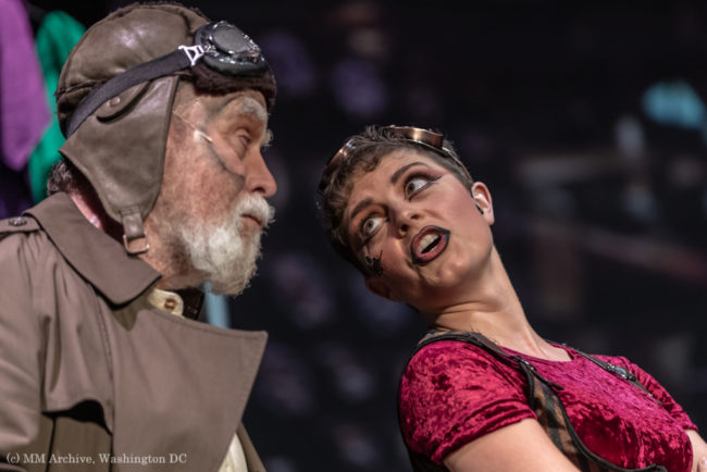 Brian Lyons-Burke (left) as Fagin and Justine Summers (right) as Nancy in Oliver! Photo: Mark McLaughlin Photography