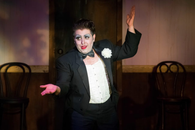 Tommy Malek as the Emcee in Cabaret at Silhouette Stages. Photo: Stasia Steuart Photography