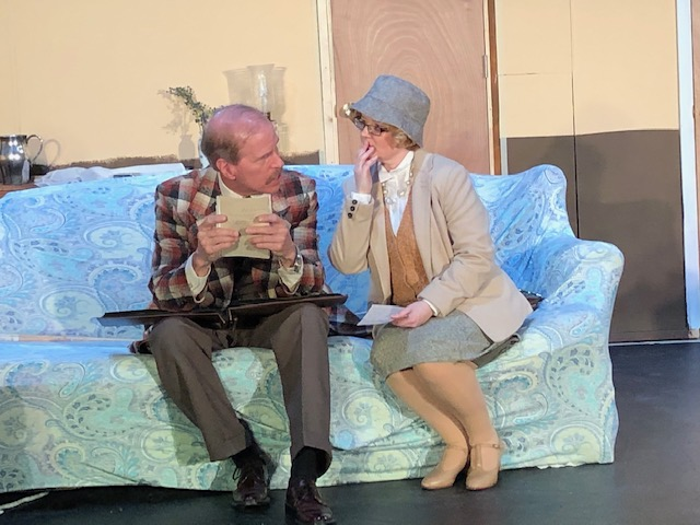 Jim Fitzpatrick (left) as Inspector Craddock and Ashley Gerhardt (right) as Miss Marple.