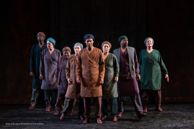 The Chorus of The Oresteia at Shakespeare Theatre Company. Photo: Scott Suchman