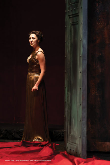 Kelley Curran as Clytemnestra. Photo: Scott Suchman