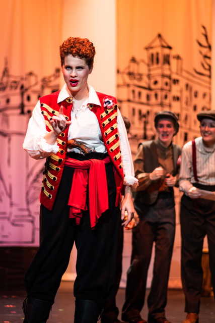 Audrey Kawecki as Enjolras in Les Miserables. Photo: Alyssa Bouma