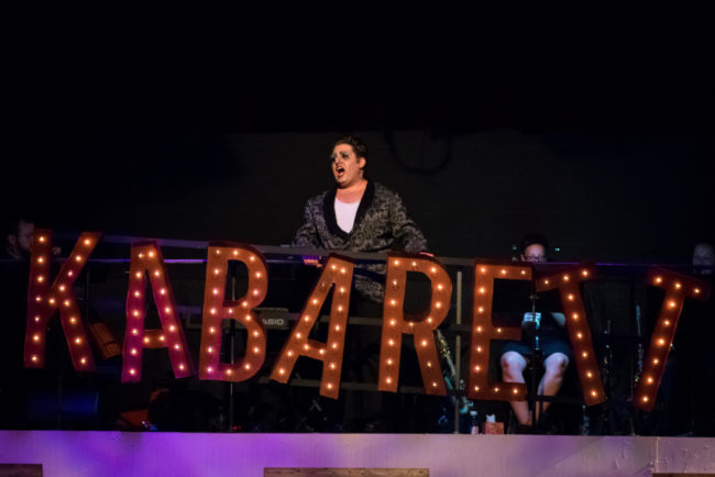 Tommy Malek as the Emcee in Cabaret. Photo: Stasia Steuart Photography