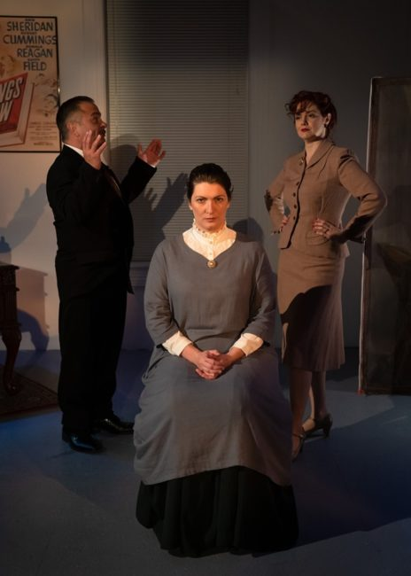 Matty Griffiths (left) as Jack with Aubri O'Connor (center) as Gwen and Rebecca Ellis (right) as Ida. Photo: Tony Hitchcock Photography