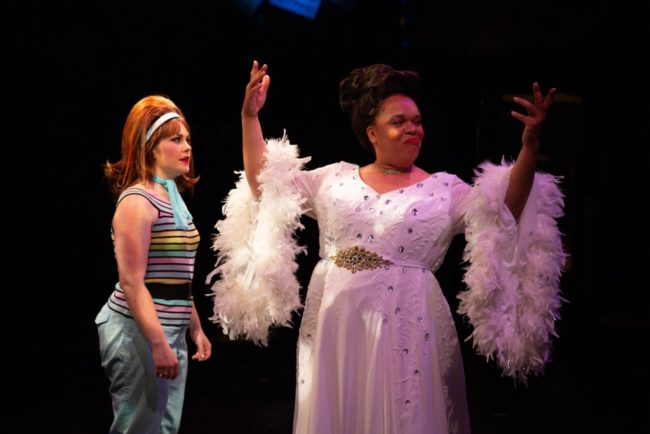 Allie O'Donnell (left) as Frenchy and Crystal Freeman (right) as Teen Angel in Grease. Photo: Jeri Tidwell Photoraphy