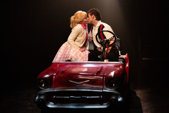 Nicki Elledge (left) as Sandy and Matt Hirsh (right) as Danny in Grease. Photo: Jeri Tidwell Photography