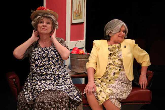 Valerie Lash (left) as Ouiser Boudreaux and Hillary Mazer (right) as Clairee Belcher. Photo: ShealyJaePhotography
