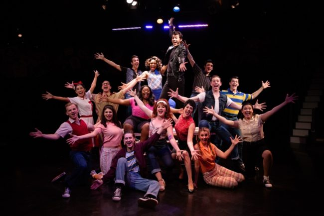 The cast of Grease at Toby's Dinner Theatre. Photo: Jeri Tidwell Photography.