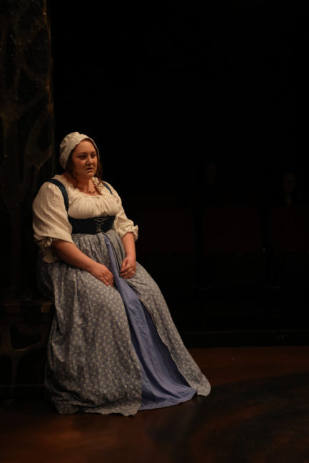 Jennifer Hasselbusch as Susan in Vinegar Tom. Photo: Shealyn Jae Photography