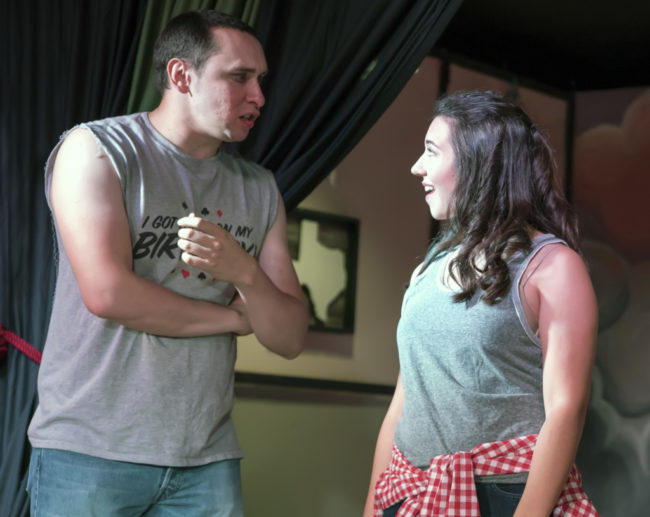 Jamie Brill as Timothy and Kelsey Yudice as Jessica in Hand to God. Photo: Rachel Zirkin Duda.