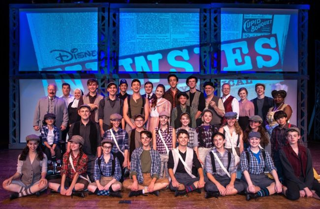 The cast of Newsies at The Fredericktowne Players