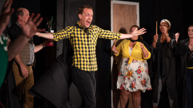 Joe Weinhoffer as Cedric in PUFFS. Photo: Matthew Peterson