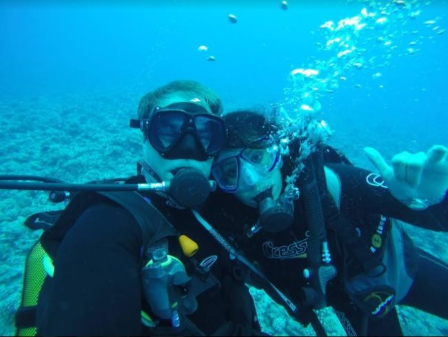 Greg & Michel Guyton scuba diving