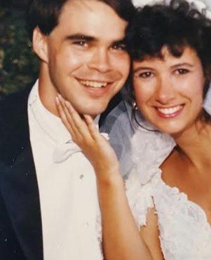 Greg & Michele Guyton on their wedding day, July 21, 1990.