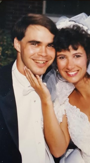 Greg & Michele Guyton on their wedding day, July 21, 1990.
