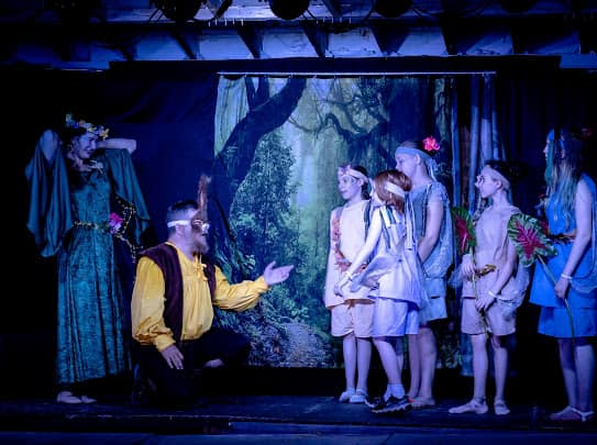 A Midsummer Night's Dream with The Bard's Wagon Players.