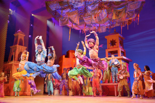 The company of Disney's Aladdin. Photo: Deen van Meer.