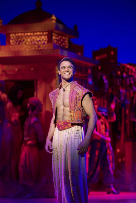 Clinton Greenspan as Aladdin in Disney's Aladdin. Photo: Deen van Meer