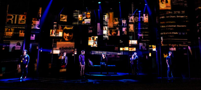 The Company of the first North American Tour of Dear Evan Hansen. Photo: Matthew Murphy