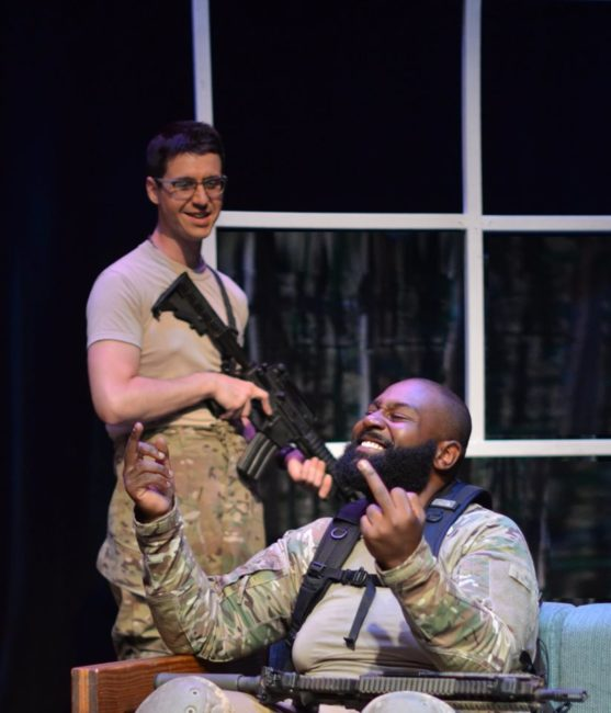 Eric Boelsche (left) as Josh and Noah Silas (right) as Hector in Crusade. Photo: Max Garner