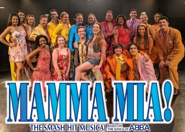 The Company of Mamma Mia! at Toby's Dinner Theatre, 2019