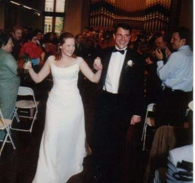 Laura and Larry Malkus on their wedding day