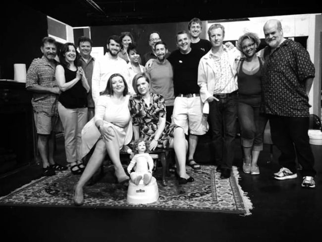 Larry & Laura Malkus with the cast of Heinie Goochems, a play written by Larry that Laura & Larry produced together.