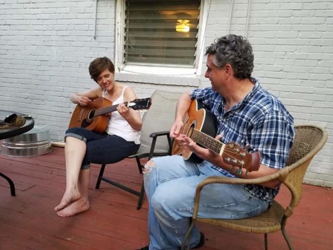 Laura & Larry Malkus playing music together