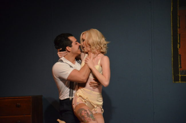 Matty Montes (left) as Burrs and Lindsey Litka (right) as Queenie in The Wild Party. Photo: Kris Northrup.