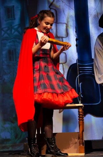 Carly Dagilis as Little Red Riding Hood in Into The Woods