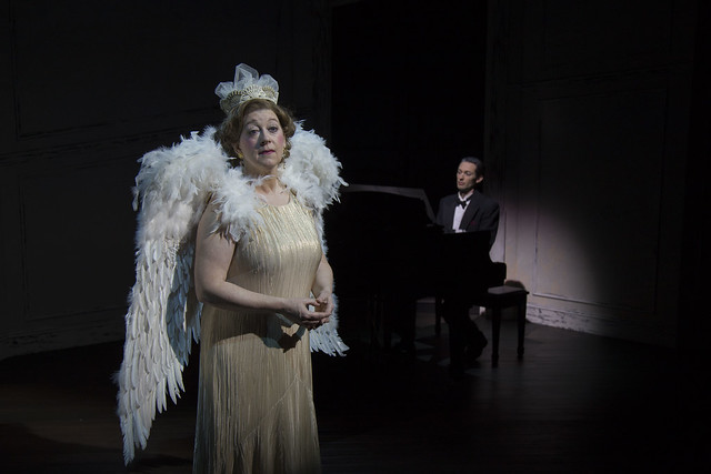Grace Bauer (left) as Florence Foster Jenkins and Alan Naylor (right) as Cosme McMoon in Souvenir at Rep Stage. Photo: Katie Simmons-Barth