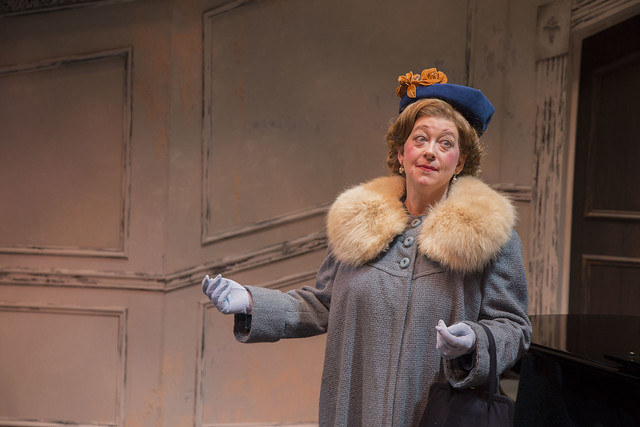 Grace Bauer as Florence Foster Jenkins in Souvenir at Rep Stage. Photo: Katie Simmons-Barth