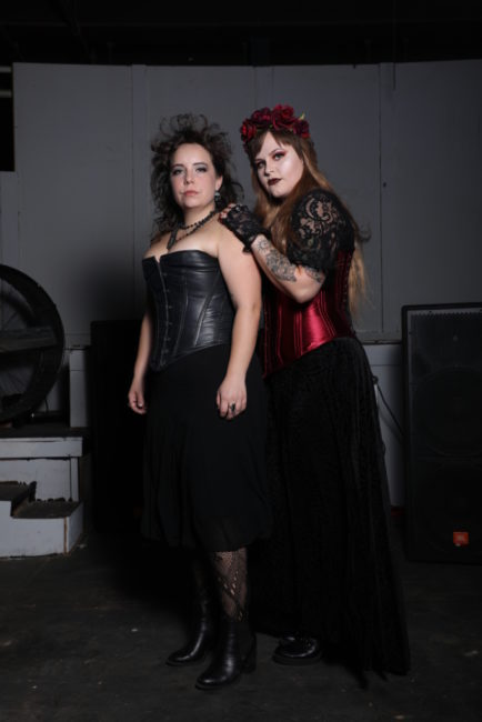 Caitlin Weaver (left) as Emma Borden and Parker Bailey Steven (right) as Lizzie Borden. Photo: Shealyn Jae Photography