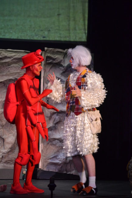 Matthew Lamb Jr. (left) as Sebastian and Will Brown (right) as Scuttle