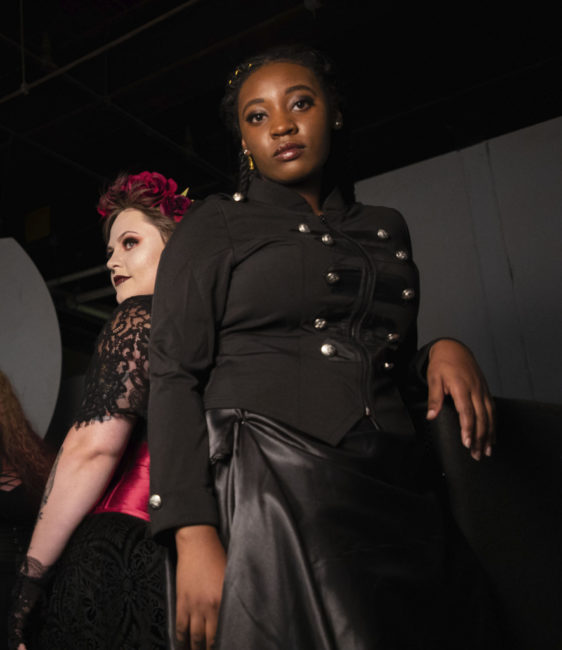 Parker Bailey Steven (left) as Lizzie Borden and JacQuan Knox (right) as Alice. Photo: Shealyn Jae Photography