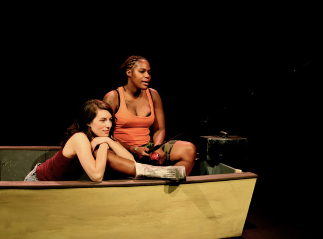 Anna Fagan (left) as Betty and Jasmine Brooks (right) as Kendra in The Gulf.