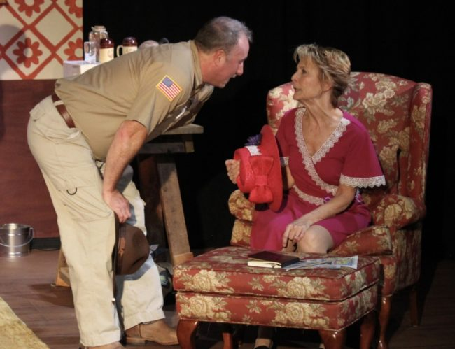 Terence Heffernan (left) as Seth and Liz Weber (right) as Helen in Helen on Wheels. Photo: Mary Roberds