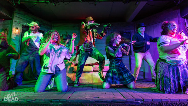 Deer in the Spotlight Productions company of Evil Dead: The Musical (2019) Photo: Matthew Peterson