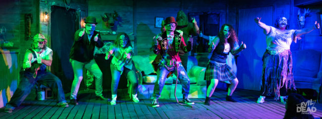 The Deer in the Spotlight Productions company of Evil Dead: The Musical (2019) Photo: Matthew Peterson