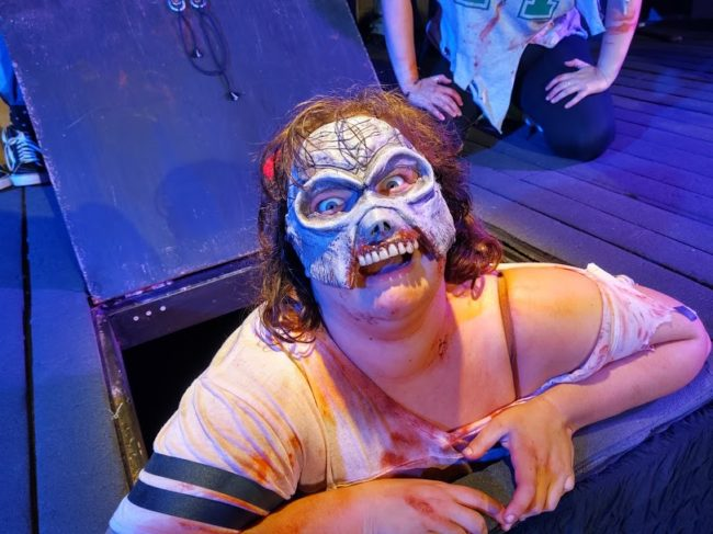Lanoree Blake as Cheryl in Evil Dead: The Musical. Photo: Lithia Knopp