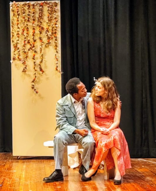 Ja'min Williams (left) as Scoop Rosenbaum and Erin Klarner (right) as Heidi Holland. Photo: Amanda Gunther