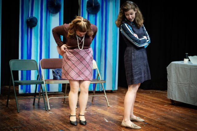 Carisa Hatfiled (left) as Susan Johnston and Erin Klarner (right) as Heidi Holland.